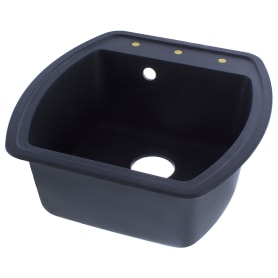 Мойка врезная Florentina Нире-480 51x48 см, цвет чёрный, композит/кварц
