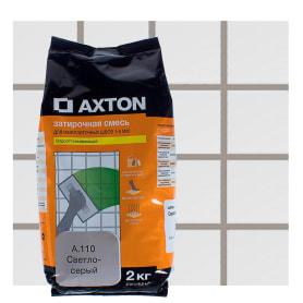 Затирка цементная Axton А.110 2 кг цвет светло-серый