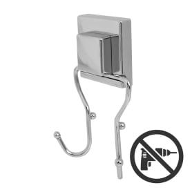 Крючок двойной Sensea «Smart Lock» на присоске цвет хром