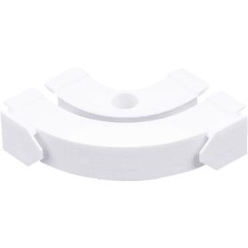 Соединитель поворотный однорядный для шины пластик цвет белый 2 шт.