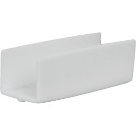 Соединитель для шины пластик цвет белый 2 шт.