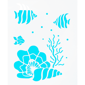 Трафарет самоклеящийся «Море» 25х30 см