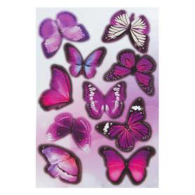 Наклейка ультрафиолет «Бабочки» Декоретто S
