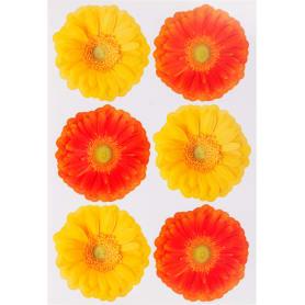 Наклейка «Герберы желто-оранжевые» Декоретто S