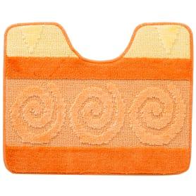 Коврик для туалета Hurrem, 50х60 см, полипропилен, цвет оранжевый
