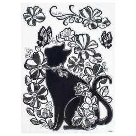 Наклейка влагостойкая «Кошка» POA 5855