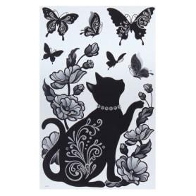 Наклейка влагостойкая «Кошка в бусах» RCA7513