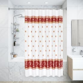 Штора для ванной комнаты «Zumrut» 180х200 см цвет красный