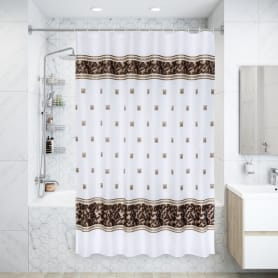Штора для ванной комнаты «Zumrut» 180х200 см цвет коричневый