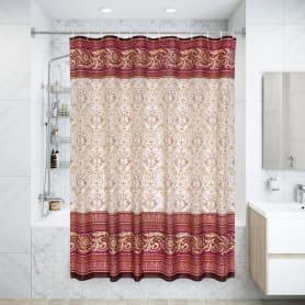 Штора для ванной комнаты «Vidage Arabesko» 180х200 см цвет красный