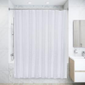 Штора для ванной комнаты «Белая» 200х240 см цвет белый