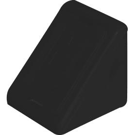 Комплект уголков мебельных с шурупами цвет чёрный, 6 шт.