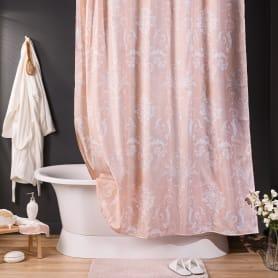 Штора для ванной комнаты «Oxford» 180х200 см цвет розовый