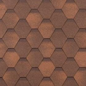 Черепица гибкая Технониколь «Классик Кадриль», цвет оникс