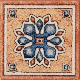 Декор «Котто» 6х6 см цвет синий/терракотовый