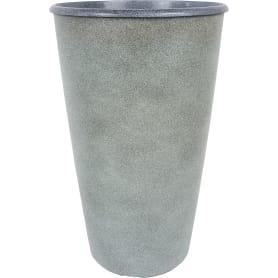Горшок цветочный «Коне» графит 18.5 л 280 мм, пластик