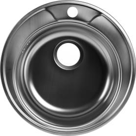 Мойка врезная Omega 49 см цвет хром, нержавеющая сталь