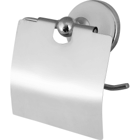Держатель для туалетной бумаги «Aster» с крышкой цвет хром