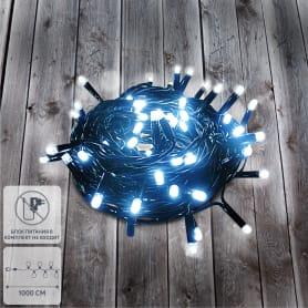 Электрогирлянда-шнур соединяемая 100 ламп, без блока питания, для улицы