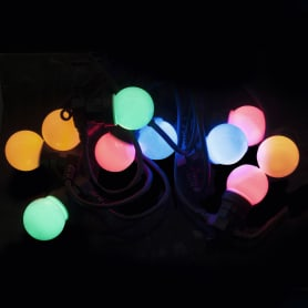 Электрогирлянда-шнур «10 шаров» без блока питания, 50 LED ламп, цвет мультиколор