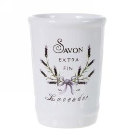 Стакан для зубных щёток настольный «Lavender» керамика цвет белый