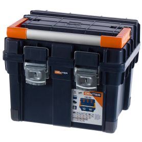 Ящик для инструмента Dexter HD Compact1 450х350х350 мм, пластик, цвет синий