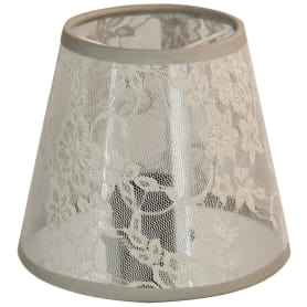 Абажур A lace grey, клипса, цвет серый