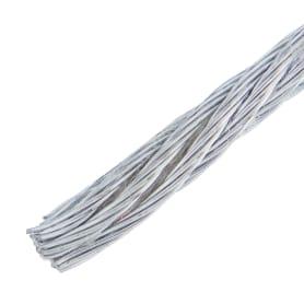 Трос стальной DIN 3055 3 мм 10 м, цвет цинк