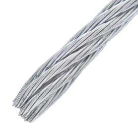 Трос стальной DIN 3055 4 мм 10 м, цвет цинк