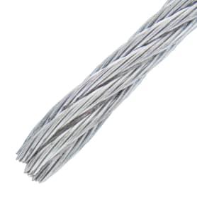 Трос стальной DIN 3055 4 мм 50 м, цвет цинк