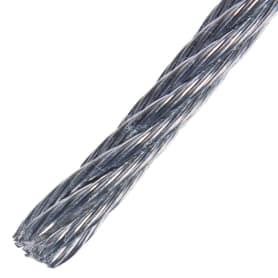 Трос стальной DIN 3055 5 мм 10 м, цвет цинк