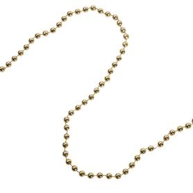 Бусы пластиковые золото 100x0.8 см