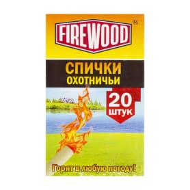 Спички охотничьи Firewood 20 шт., для розжига костров в любую погоду, в коробке