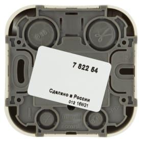Розетка компьютерная накладная Legrand Quteo RJ45, UTP cat 5, цвет слоновая кость