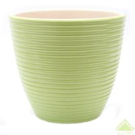 Горшок цветочный «Спираль» яблоко 4 л 220 мм, керамика