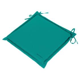 Подушка для стула голубая 43х43 см, полиэстер