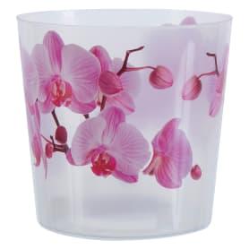 Кашпо цветочное «Деко», D12, 1, 2л. пластик, Белый, Розовый