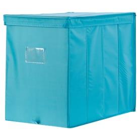 Короб Spaceo с крышкой 27х36x44 см нетканный материал цвет голубой