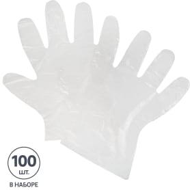 Перчатки одноразовые Unibob полиэтилен 100 шт.