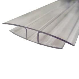 Профиль соединительный неразъёмный 6 мм x 3 м, цвет прозрачный