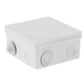 Коробка распределительная TDM 100х100х55 мм цвет серый, IP54