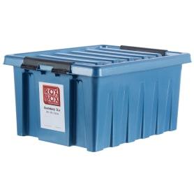 Контейнер Rox Box 39x25x50 см, 36 л, пластик цвет синий с крышкой