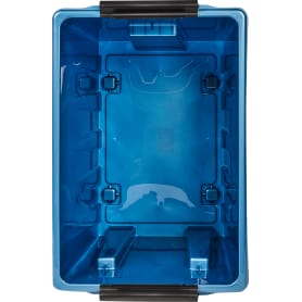 Контейнер Rox Box 40x36x60 см, 70 л, пластик цвет синий с крышкой с роликами