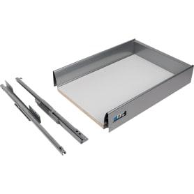 Ящик Delinia низкий с доводчиком 34.2x8.6х48 см, металл, цвет белый