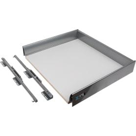 Ящик Delinia низкий с доводчиком 49.2х8.5х60 см, металл, цвет белый