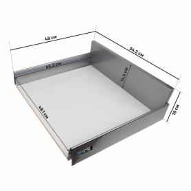 Ящик Delinia высокий с доводчиком 54.2х16х48 см, металл, цвет белый