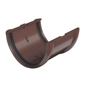 Соединитель желоба с уплотнителем цвет коричневый