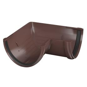 Угол желоба универсальный на 90° цвет коричневый