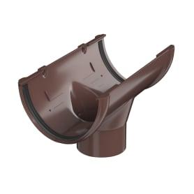 Воронка желоба центральная 82 мм цвет коричневый