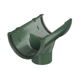 Воронка желоба центральная 82 мм цвет зелёный